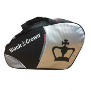 Paletero Padel Black Crown plata