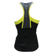 Camiseta Padel Endless Mujer Ash Black lateral