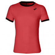 Camiseta Padel Asics Hombre Club SS Top Flash Coral